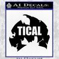 Method Man M With Tical Text Decal Sticker Black Vinyl 120x120