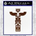 Native American Totem Pole D1 Decal Sticker BROWN Vinyl 120x120