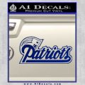 Patriots Decal Sticker D1 Blue Vinyl 120x120