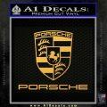 Porche Decal Sticker Full Emblem Logo Gold Vinyl 120x120