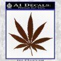 Pot Leaf Decal Sticker BROWN Vinyl 120x120