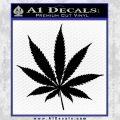 Pot Leaf Decal Sticker Black Vinyl 120x120
