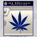 Pot Leaf Decal Sticker Blue Vinyl 120x120