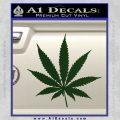 Pot Leaf Decal Sticker Dark Green Vinyl 120x120