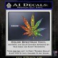 Pot Leaf Decal Sticker Glitter Sparkle 120x120