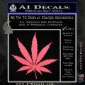 Pot Leaf Decal Sticker Pink Emblem 120x120