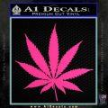 Pot Leaf Decal Sticker Pink Hot Vinyl 120x120
