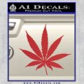 Pot Leaf Decal Sticker Red 120x120