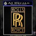 Rolls Royce Emblem Decal Sticker Gold Vinyl 120x120