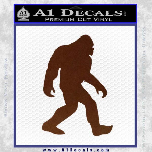 Sasquash Bigfoot Decal Sticker BROWN Vinyl