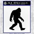 Sasquash Bigfoot Decal Sticker Black Vinyl 120x120