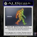 Sasquash Bigfoot Decal Sticker Glitter Sparkle 120x120