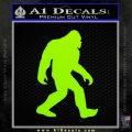 Sasquash Bigfoot Decal Sticker Lime Green Vinyl 120x120