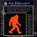 Sasquash Bigfoot Decal Sticker Orange Emblem 120x120