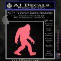 Sasquash Bigfoot Decal Sticker Pink Emblem 120x120