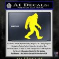 Sasquash Bigfoot Decal Sticker Yellow Laptop 120x120