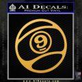 Sector 9 Decal Sticker RD Gold Vinyl 120x120