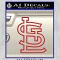 St Louis STL Logo Decal Sticker Red 120x120