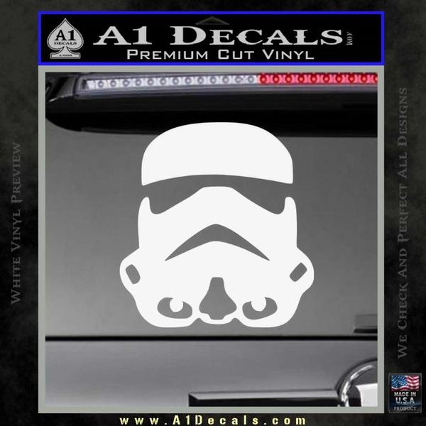 Storm Trooper Decal Sticker White Vinyl