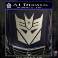 Transformers Decepticons Decal Sticker tf Metallic Silver Emblem 120x120