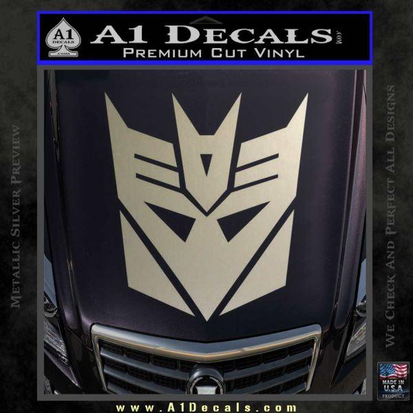 Transformers Decepticons Decal Sticker tf Metallic Silver Emblem