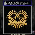 Winchester Brothers Firearms Decal Sticker Gold Vinyl 120x120