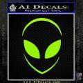 Alien Head Decal Sticker Stylized Lime Green Vinyl 120x120