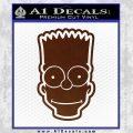 Bart Simpson Head Decal Sticker BROWN Vinyl 120x120