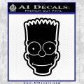 Bart Simpson Head Decal Sticker Black Vinyl 120x120