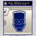 Bart Simpson Head Decal Sticker Blue Vinyl 120x120