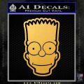 Bart Simpson Head Decal Sticker Gold Vinyl 120x120
