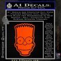 Bart Simpson Head Decal Sticker Orange Emblem 120x120