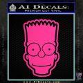Bart Simpson Head Decal Sticker Pink Hot Vinyl 120x120