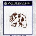 Bear Decal Sticker BROWN Vinyl 120x120