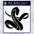 Coiled Snake Decal Sticker Black Vinyl 120x120