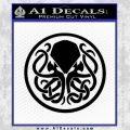 Cthulhu Emblem Necronomicon D1 Decal Sticker Black Vinyl 120x120