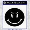 Devilish Smiley Face Decal Sticker 2 Pack Black Vinyl 120x120