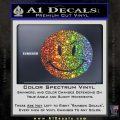 Devilish Smiley Face Decal Sticker 2 Pack Glitter Sparkle 120x120