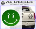 Devilish Smiley Face Decal Sticker 2 Pack Green Vinyl Logo 120x97