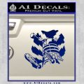 Doctor Who Dalek 3D Upward Decal Sticker Blue Vinyl 120x120