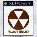 Fallout Shelter Decal Sticker BROWN Vinyl 120x120