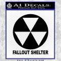Fallout Shelter Decal Sticker Black Vinyl 120x120