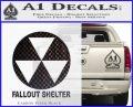 Fallout Shelter Decal Sticker Carbon FIber Black Vinyl 120x97