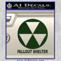 Fallout Shelter Decal Sticker Dark Green Vinyl 120x120