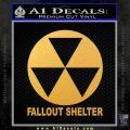Fallout Shelter Decal Sticker Gold Vinyl 120x120