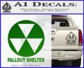Fallout Shelter Decal Sticker Green Vinyl Logo 120x97