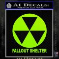 Fallout Shelter Decal Sticker Lime Green Vinyl 120x120