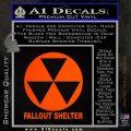 Fallout Shelter Decal Sticker Orange Emblem 120x120