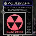 Fallout Shelter Decal Sticker Pink Emblem 120x120