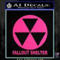 Fallout Shelter Decal Sticker Pink Hot Vinyl 120x120